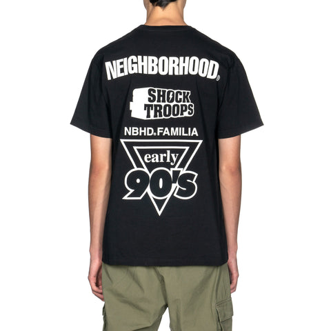 NEIGHBORHOOD Familia / C-Tee . SS Black x White, T-Shirts