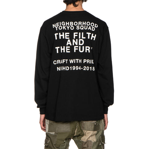 NEIGHBORHOOD Filth and Fury / C-Tee . LS Black, T-Shirts