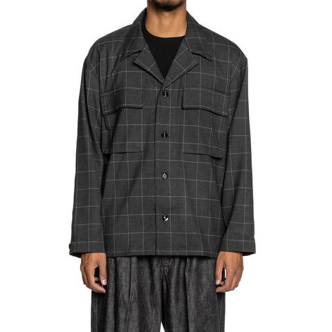 NEIGHBORHOOD Grid . BDU / ER-Shirt . LS Gray, Shirts