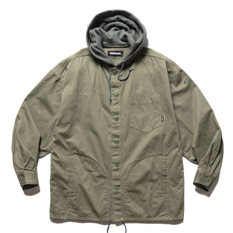 NEIGHBORHOOD Hooded / C-Shirt . LS Olive Drab, Shirts