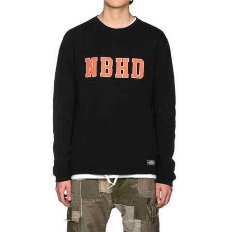 NEIGHBORHOOD Logic / C-Crew . LS Black, T-Shirts