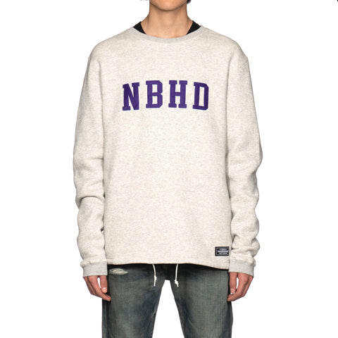 NEIGHBORHOOD Logic / C-Crew . LS Gray, T-Shirts