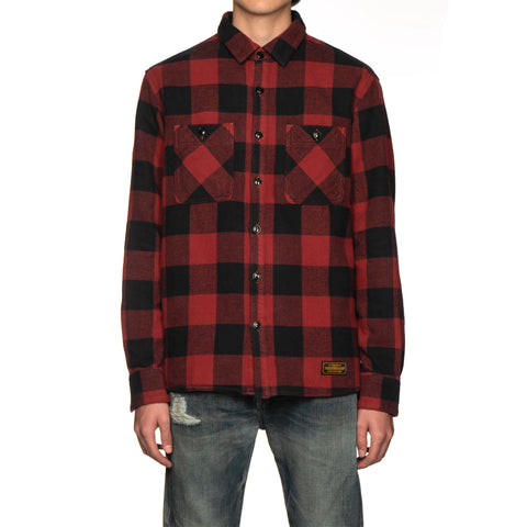 NEIGHBORHOOD Lumbers / C-Shirt . LS Red, Tops