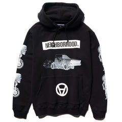 NEIGHBORHOOD NHKS / C-Hooded . LS Black, Sweaters