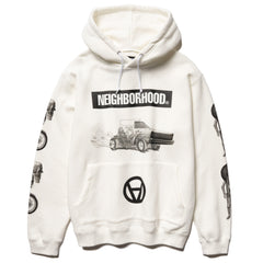 NEIGHBORHOOD NHKS / C-Hooded . LS White, Sweaters