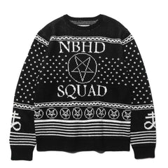 NEIGHBORHOOD SQD / AW-Crew LS Black, Knits