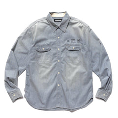 NEIGHBORHOOD Savage . Chambray / C-Shirt . LS Indigo, Shirts