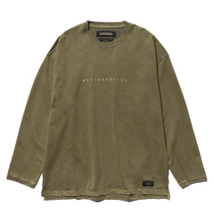 NEIGHBORHOOD Savage . SQD / C-Crew . LS Olive Drab, T-Shirts