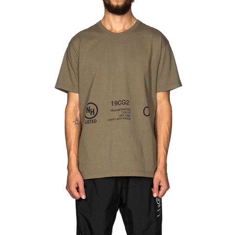 NEIGHBORHOOD Signaling / C-Tee . SS Olive Drab, T-Shirts