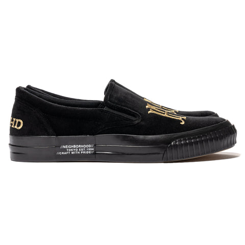 NEIGHBORHOOD Slip On-E / C-Sneakers Black, Footwear