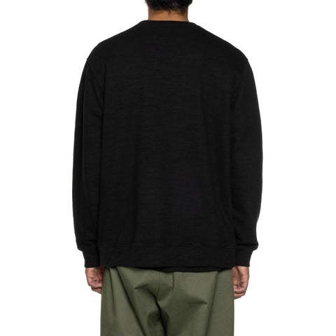 NEIGHBORHOOD Slub / C-Crew . LS Black, Sweaters