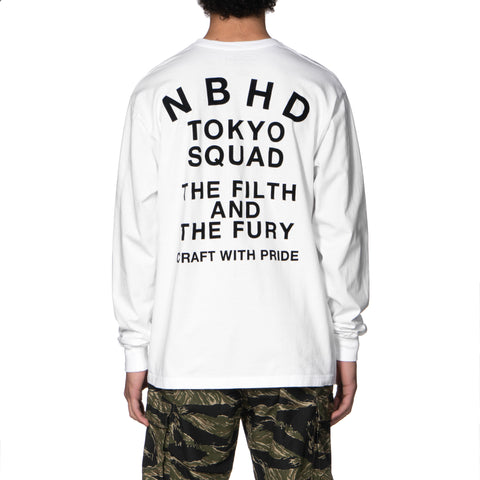 NEIGHBORHOOD Squad / C-Tee. LS White, T-Shirts
