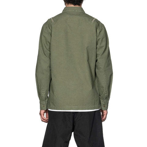 NEIGHBORHOOD Submission / C-Shirt . LS Olive Drab, Tops