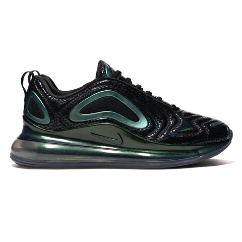 b3ad1ee2cf72 Nike Air Max 720 Black Metallic Silver