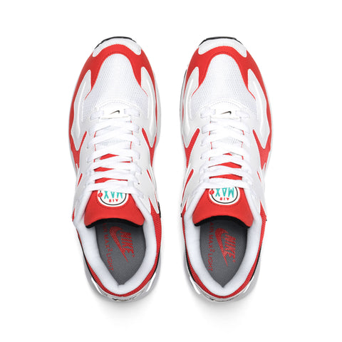 Nike Air Max2 Light White/Black/Habanero Red, Footwear