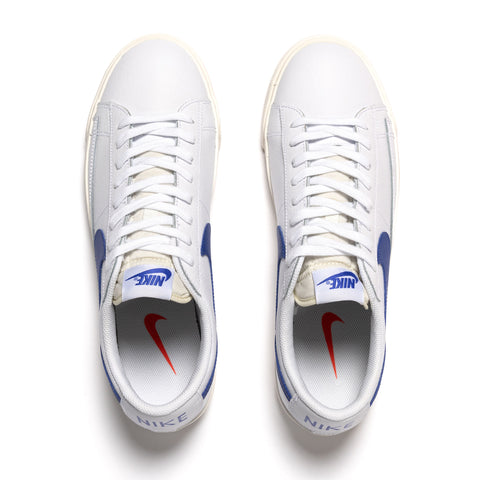 Nike Blazer Low Leather White/ Blue, Footwear