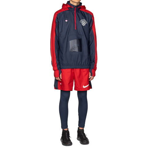 Nike x Gyakusou 1/2 Zip Hooded Jacket Thunder Blue/Sport Red, Outerwear