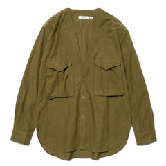 nonnative Carpenter Shirt Jacket Cotton Flannel Olive, Jackets
