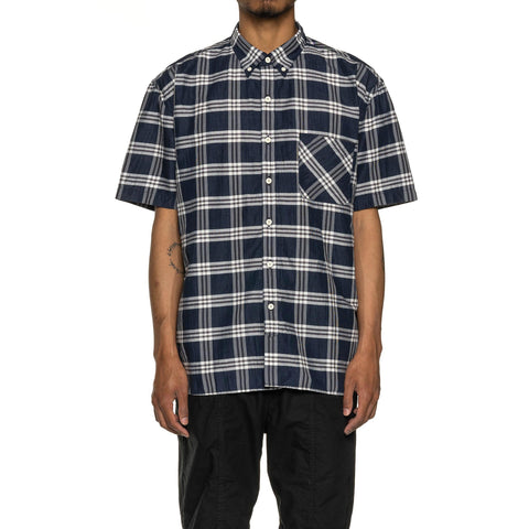 nonnative Dweller B.D. Shirt S/S Relaxed Fit L/C/P Broad Navy, Shirts