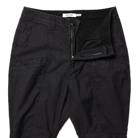 nonnative Educator 6P Trousers Relaxed Fit Cotton Compact Cord Black, Bottoms