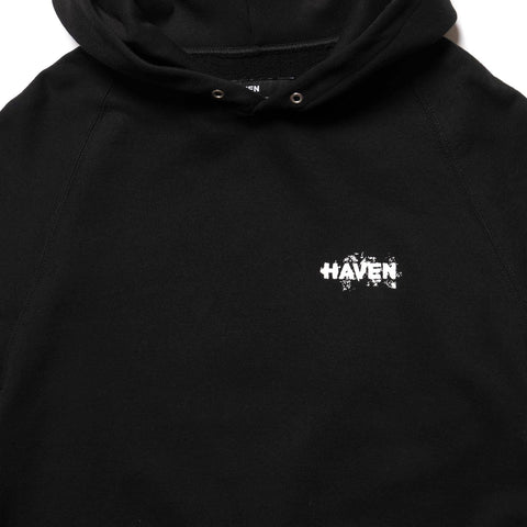 HAVEN / mo'design 1 PERCENT Pullover Hoodie - Mid Weight Cotton Terry Black, Sweaters