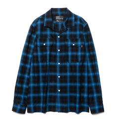 HAVEN Open Collar Shirt - Shadow Plaid Navy
