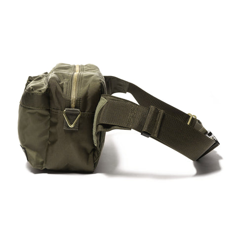 PORTER Force 2Way Waist Bag Olive, Bags