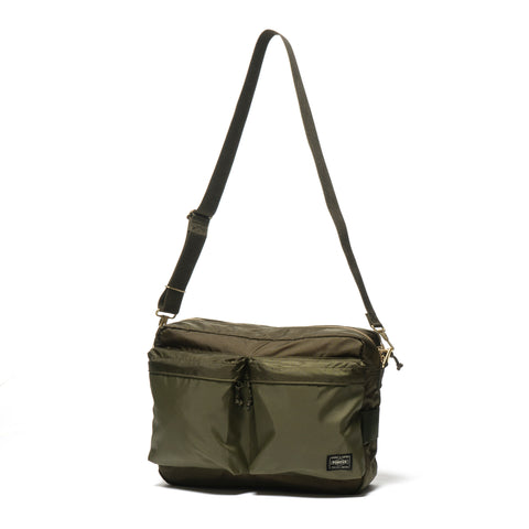 PORTER Force Shoulder Bag (L) Olive Drab c144f9a68396a