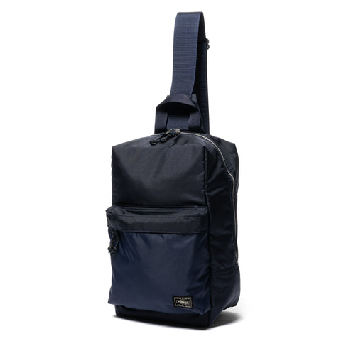 PORTER Force Sling Shoulder Bag Navy, Accessories