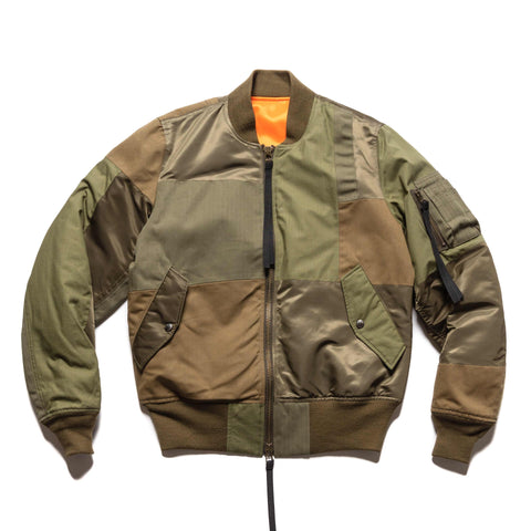 Uniform Experiment Patch Work MA-1 Khaki, Outerwear