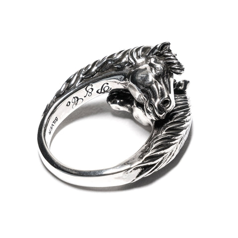 Peanuts and Co. Twoface Horse Ring Silver, Accessories