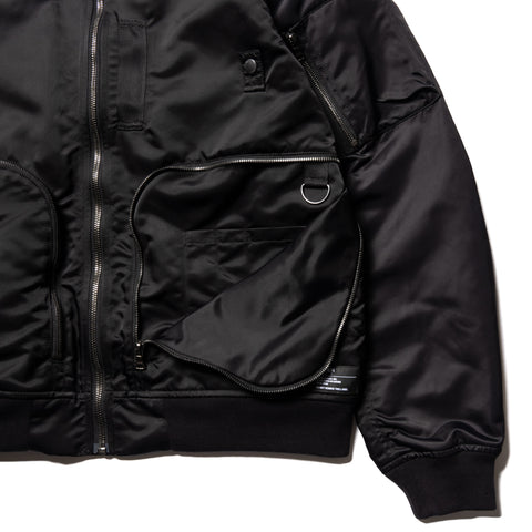 HAVEN Pilot Utility Bomber - Nylon Flight Satin Black, Outerwear