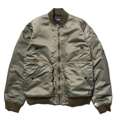 HAVEN Pilot Utility Bomber - Nylon Flight Satin Olive, Outerwear