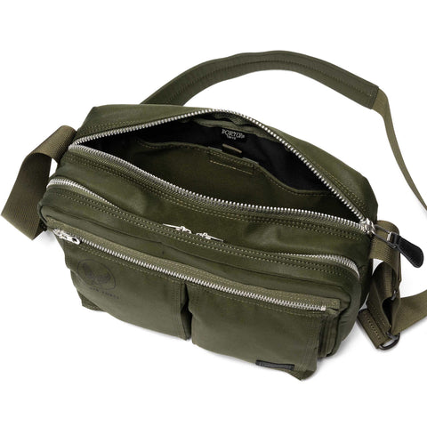 PORTER Flying Ace Shoulder Bag Olive Drab, Accessories
