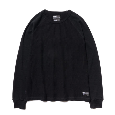 HAVEN Raglan Thermal - Cotton Waffle Black, Shirts