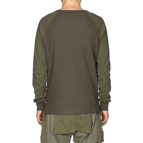 HAVEN Raglan Thermal - Cotton Waffle Olive, Shirts