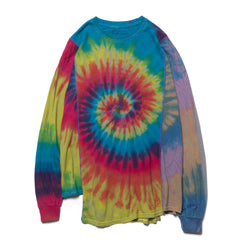 Needles Rebuild by Needles 5 Cuts L/S Tee - Tie Dye Gray