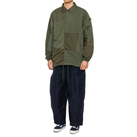 Needles Rebuild by Needles T/C Fatigue Coach Jacket Olive, Outerwear