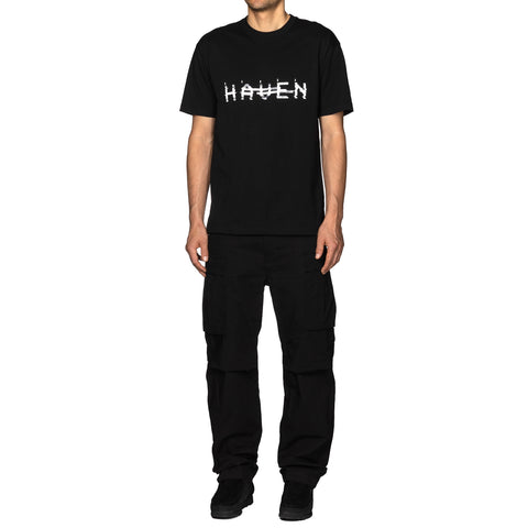 HAVEN / mo'design NOISE T-Shirt - Cotton Jersey Black, T-Shirts