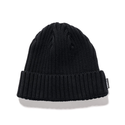 HAVEN Ribbed Beanie - Cotton Black, Headwear