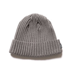 HAVEN Ribbed Beanie - Cotton Melange Gray, Headwear