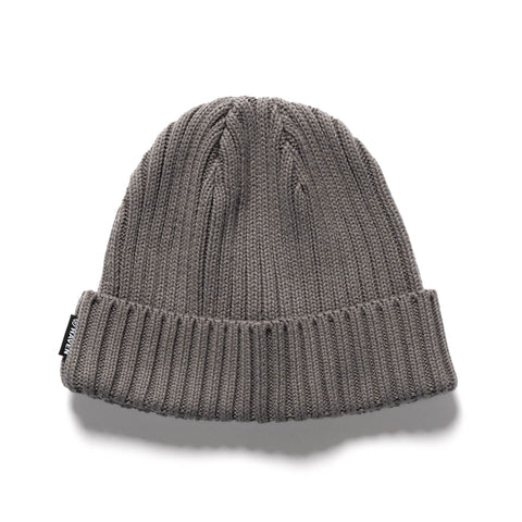 HAVEN Ribbed Beanie - Cotton Grey, Headwear