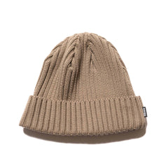 HAVEN Ribbed Beanie - Cotton Khaki, Headwear