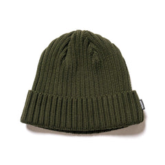 HAVEN Ribbed Beanie - Cotton Olive, Headwear
