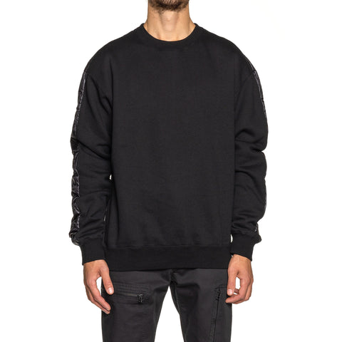 SOPHNET. Back Quilting Crewneck Cut & Sewn Black, Sweaters