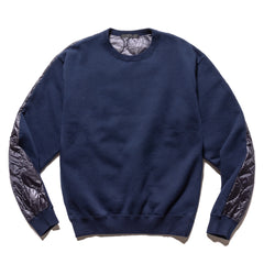 SOPHNET. Back Quilting Crewneck Cut & Sewn Navy, Sweaters