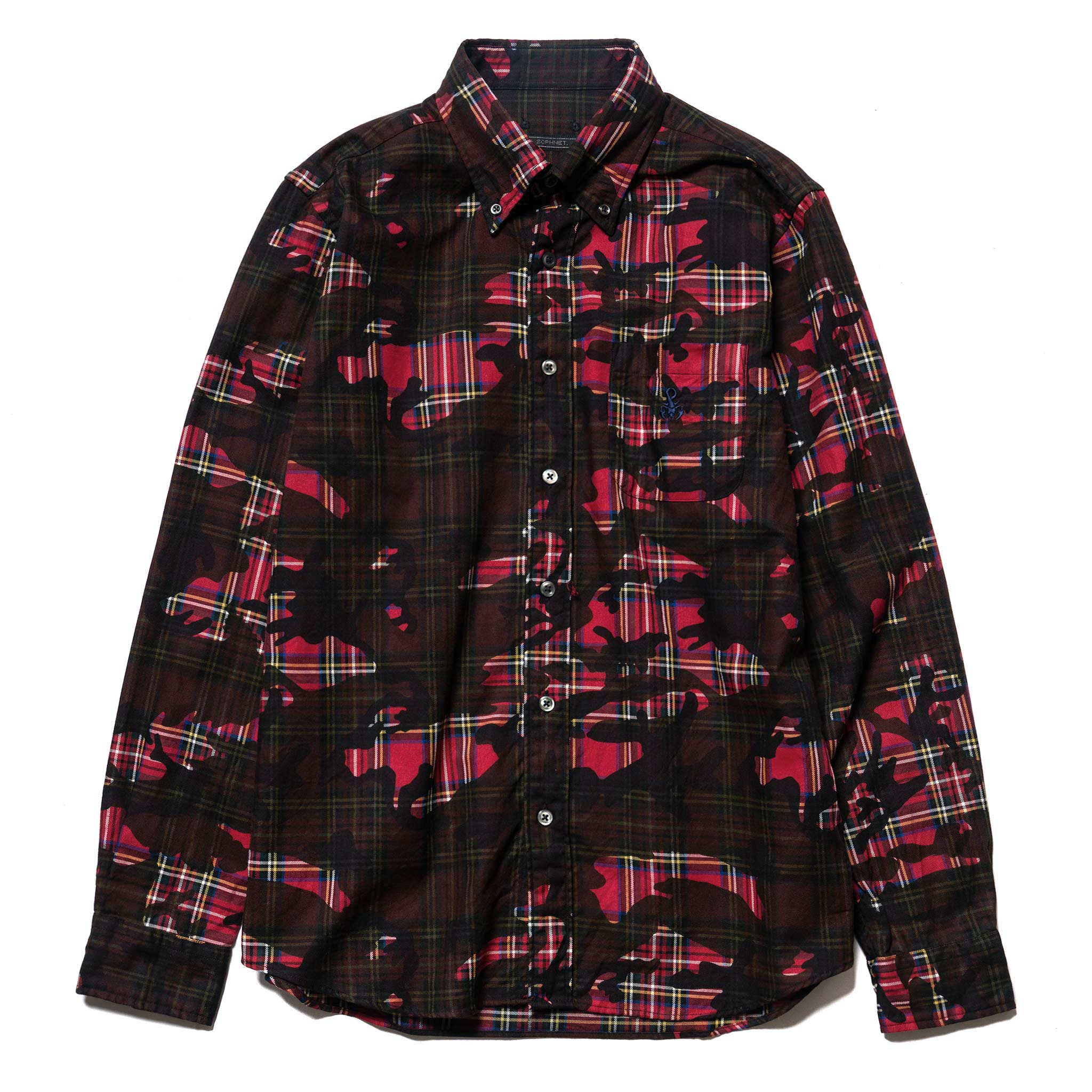 da87ecef7009f0 Camouflage Over Print B.D Shirt Red – HAVEN