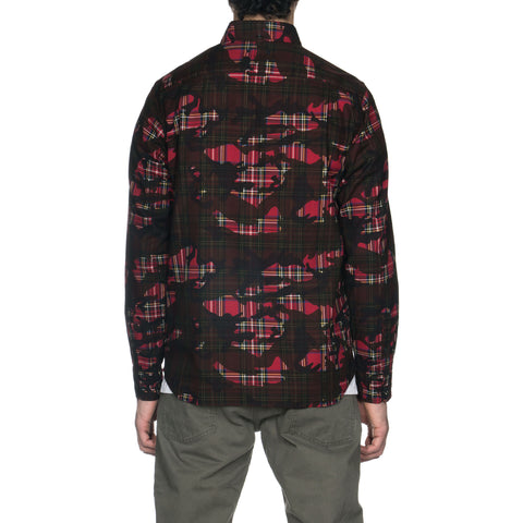 SOPHNET. Camouflage Over Print B.D Shirt Red, Tops