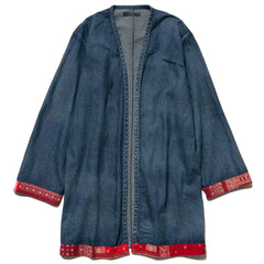 SOPHNET. Denim Long Shirt Cardigan Indigo, Tops