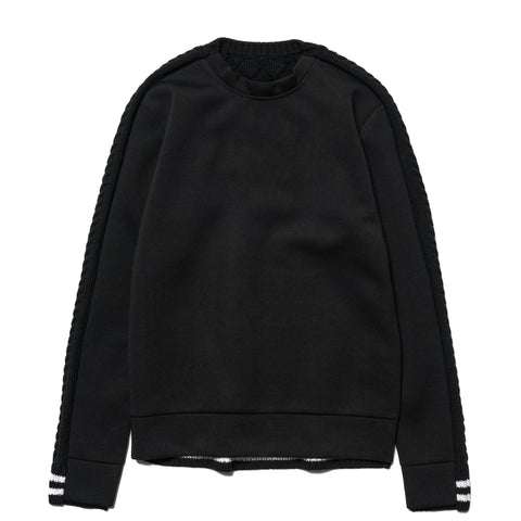 SOPHNET. Fabric Mix Crew Neck Knit Black, Knits